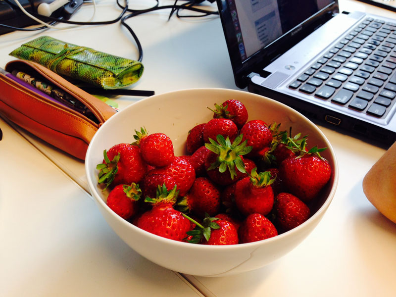 Strawberries improve Code_Padawans powers