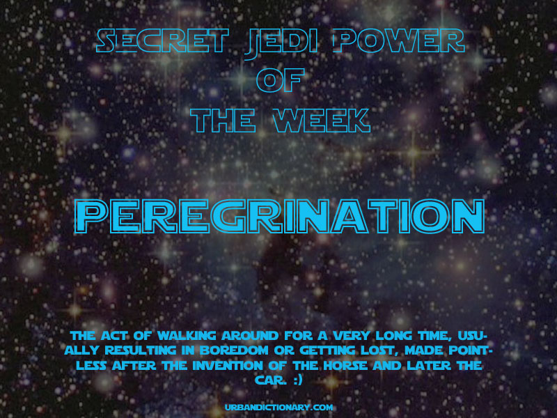 Secret Jedi Super Power - Peregrination